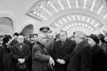 Then First Secretary of the Communist Party of Azerbaijan Heydar Aliyev at the opening of Nizami station on 31 December 1976. Photo: Azertaj