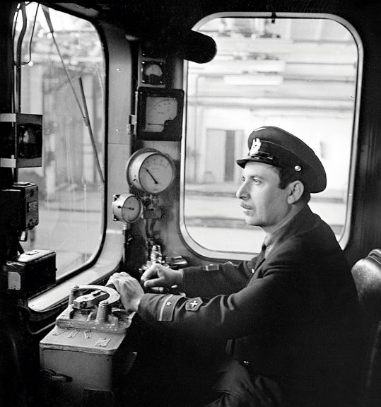 A metro driver. March 1969. Photo: Azertaj