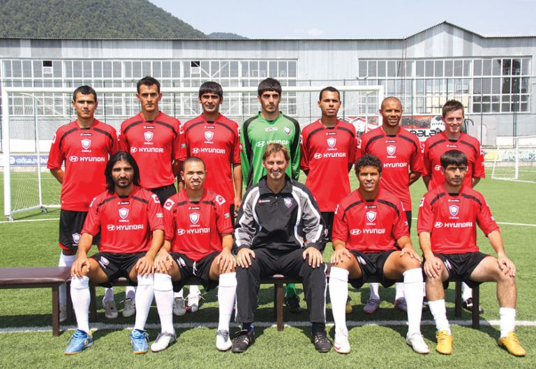 Adams with the 2010-2011 Qabala FC first team