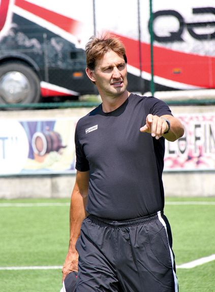 Adams during his management spell from 2010-2011