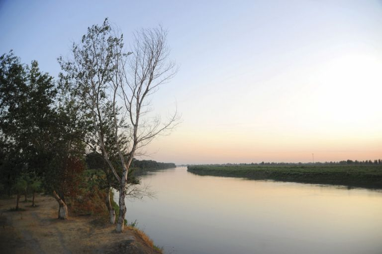 The Kur river - main source of irrigation for the watermelon fields around it
