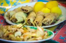 Cabbage dolma with chestnuts
