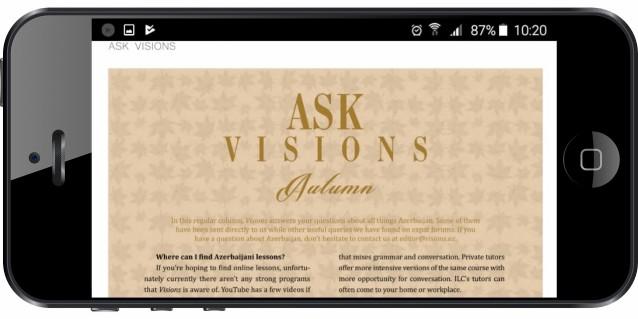Introducing the Visions Android App - Blog - Visions of Azerbaijan